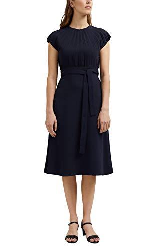 ESPRIT Collection Damen 031EO1E319 Kleid, 400/NAVY, 38