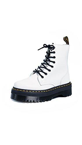 Dr. Martens Jadon, Zapatos de Escalada Mujer, Color Blanco 15265100, 36 EU