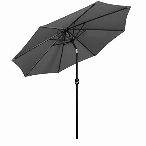 Mondeer Grande Patio Parasol, 3M Parasol de Jardin Inclinable et Réglable...