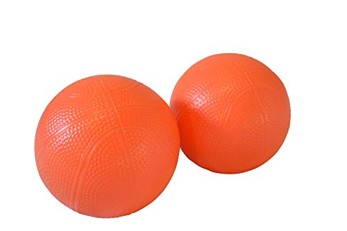 "Four Brothers Replacement 6"" Orange Indoor and Outdoor PVC Basketball for Little Tikes Easy Score (2 Ball Pack)"