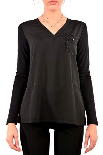 Liu Jo W69238J5744 Camiseta Mujer Negro S