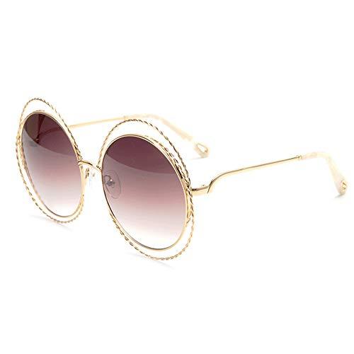 SWNN Sunglasses Gafas De Sol UV400 Marrón Marrón Gafas De Sol Estilo Street Street Gafas Retro (Color : Brown)