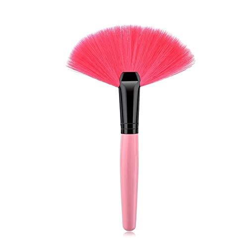 ZRDY 1 Pcs Surligneur Maquillage Pinceaux Ventilateur Brosse for Surligneur Contour Poudre Fondation Blush Cosmétique Make Up Outil (Handle Color : 1PCS 01)