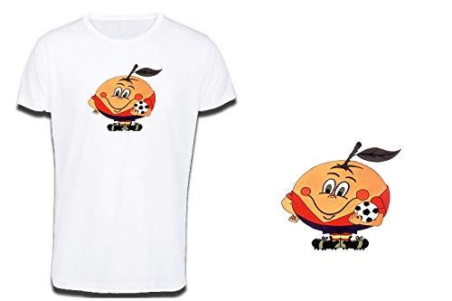 MERCHANDMANIA Camiseta Tacto ALGODÓN Naranjito Mascota Mundial ESPAÑA Cotton Touch Tshirt