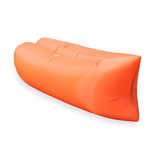 Rainny Camping-Sofa, Schlafsack, aufblasbares Sofa, Lounge-Sessel (Farbe: Orange)