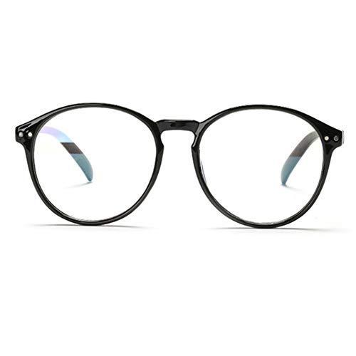 YUNCAT Hornbrille Atzenbrille Nerd Brille Klar Brille Nerdbrille in verschiedenen Farben, Schwarz, Einheitsgröße