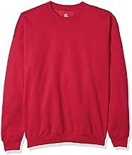 Hanes Men's EcoSmart Sweatshirt, Deep Red, Large