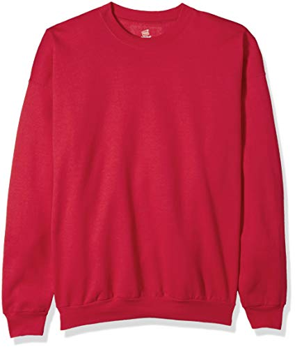 Hanes Men's Ecosmart Fleece Sweatshirt, Deep Red, Medium