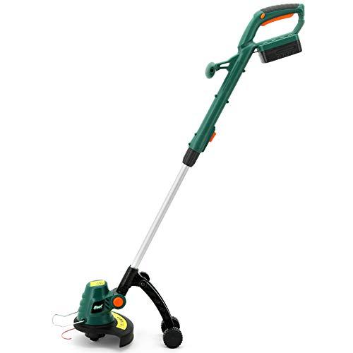 KKmoon Elektrische grasmaaier met lithium-accu, 18 V, 1500 mAh, met accu-grasmaaier met verstelbare lengte en helling gereedschap voor de tuin