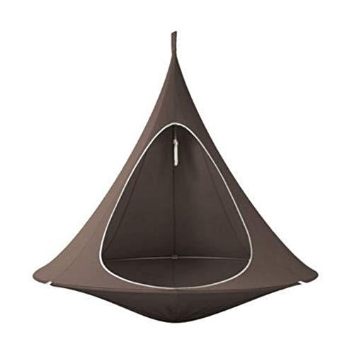 Schaukel Hängematte Stuhl UFO Form Konischen Zelt Baum Hängen Seidenraupen Kokon Schaukel Kinder Und Erwachsene Indoor Outdoor Hängematte,Braun,180cmX150cm …