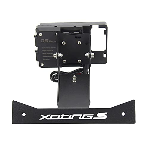 gzcfesbn Accesorios de Motocycle Stand Phone Phone Navigation Soporte GPS Mobile para KyMCO XCITING S 400 S400 HSGZC (Color : USB and Bracket)
