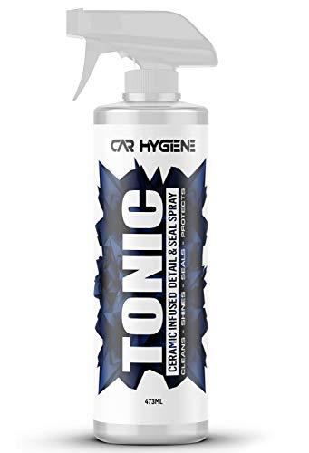 Car Hygiene Tonic 100% True Ceramic Quick Detailer & Paint Sealant   Insane Gloss Enhancement & Long Lasting Extreme Hydrophobic Top Coat - 5X Stronger Than Wax! 473mL (16oz) - Made in America!