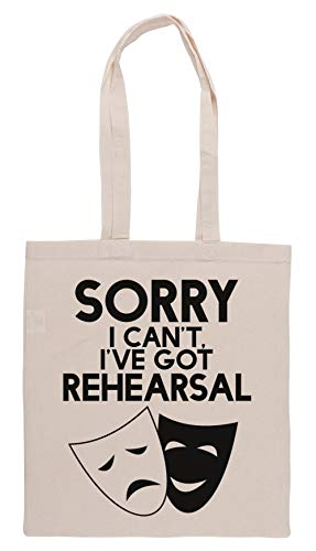 Luxogo Sorry I Cant, Ive Got Rehearsal Einkaufstasche Groceries Beige Shopping Bag