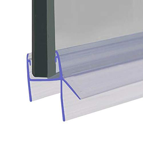 Joint de porte de douche ou de baignoire | Compatible avec du verre de 8, 9 ou 10 mm | Double aileron pour joints jusqu'à 12 mm | 80 cm, 90 cm, 140 cm ou 2 m de long | SEAL050 (80 cm)