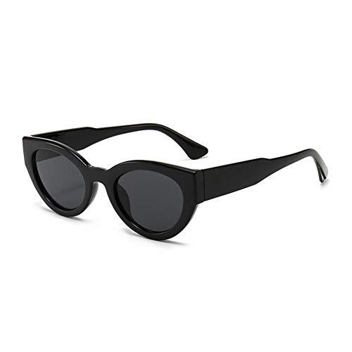 ZZOW Gafas De Sol Pequeñas con Forma De Ojo De Gato A La Moda para Mujer, Diseñador De Marca, Gafas Vintage Verde Gris, Gafas De Sol Ovaladas para Hombre, Gafas Uv400
