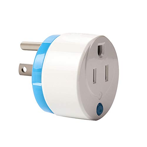 HAOZEE Z Wave Plus Mini Smart Power Plug Home Automation Zwave Outlet Energy Monitoring Works with SmartThings & More(Updated Version:Z Wave 700 Series with QR Code)