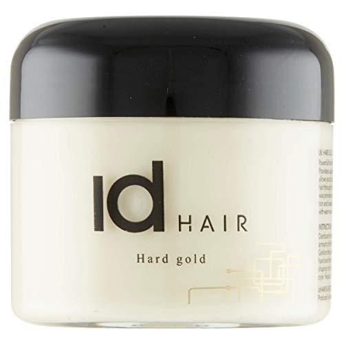 IdHair - Hard Gold - Cire capillaire professionnelle pour homme - Tenue forte et brillance moyenne - Convient aux cheveux courts - Sans parabens - 100 ml