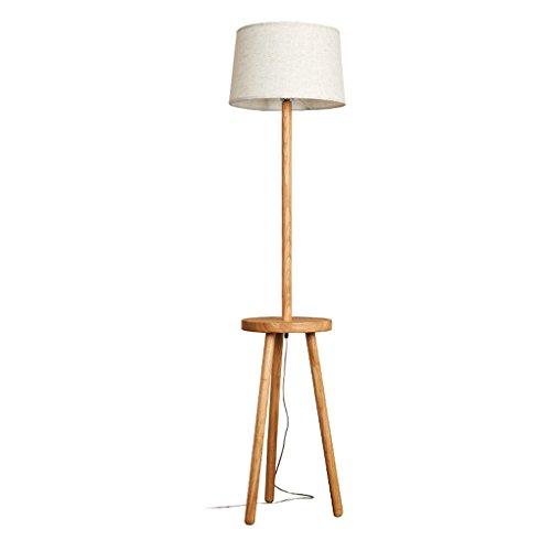 Tyannan Nordic Lámpara de la sala de estar dormitorio de noche de madera sólida lámpara de estudio de la lámpara de la manera simple lámpara de pie Lámpara de pie de cabecera