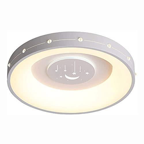 GUOGUOSM Lámpara De Techo Circular Simple Y Moderna Para Dormitorio Habitación Empotrada LED Personalidad Creativa Restaurante Luz De Techo Ajustable De Tres Colores Decoración