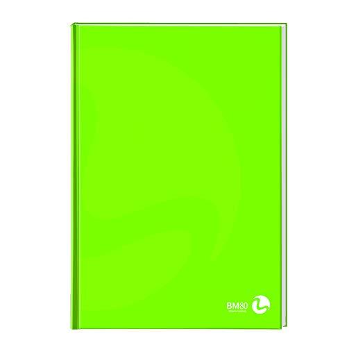 BM BeMore Cartonato Color 0105328, Maxi Quaderno Cartonato A4, Rigatura 5mm, Quadretti 5mm, Copertina Cartonata Pesante, Carta 80 g/mq, Colori Assortiti, Confezione 5 Pezzi