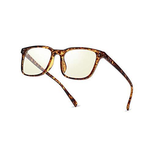 Blaues Licht Blockieren Gläser, Mloz Blaulicht Filter Computer-Brille, Anti Eyestrain Vintage Quadratische Rahmen Brillen für Frauen Männer (Quadrat Leopard)