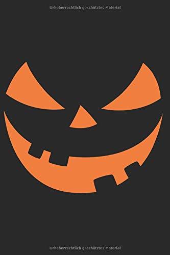 Notizbuch: Halloween Kürbis A5 Notizheft liniert I Trick or treat Geschenk für Kinder I Kürbisgesicht Tagebuch I Grusel Journal