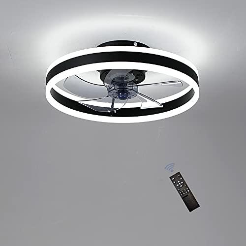 ventilatore da soffitto 6 pale 5 velocità Ventilatore da Soffitto con Lampada – 60W Lampadario Ventilatore Ø50 cm 5 Pale con Telecomando