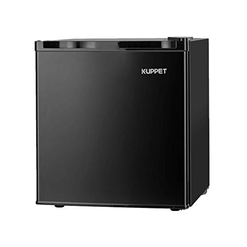 KUPPET Upright Freezer-1.1 Cubic Feet Single Door Compact Mini Freezer with Reversible Stainless Steel Door for Home/Dorms/Apartment/Office(Black)
