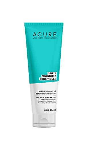 ACURE Simply Smoothing Conditioner  Coconut Water amp Marula Oil | 100% Vegan | Performance Driven Hair Care | Smooths amp Reduces Frizz | 8 Fl Oz