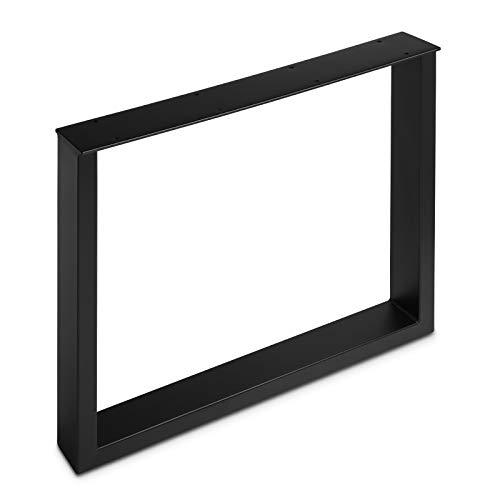 Tischgestell TAB Stahl schwarz matt Profil 80 x 40 mm Höhe: 720 mm Tiefe 800 mm Tischkufen Industriedesign Tischuntergestell Tischkufe Kufengestell von SO-TECH®