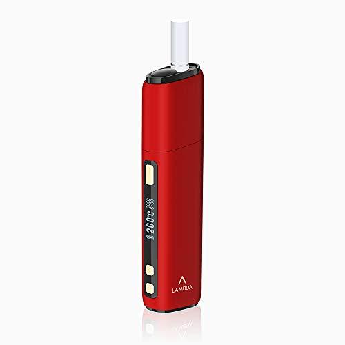 LAMBDA CC (Ultima Versione) Dispositivo di riscaldamento non bruciatura per tabacco Heets Heat Sticks Starter Kit con parte sostituibile della lama riscaldante (rosso)