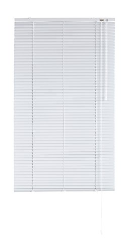 Blindecor - Veneciana de Aluminio, Lama de 25 mm, Blanco, 80X250 cm