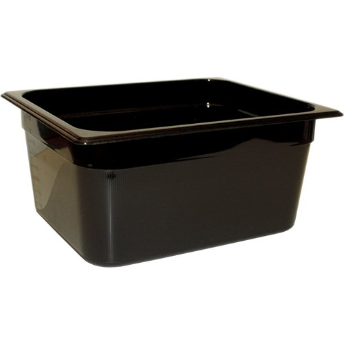 New Rubbermaid Commercial Products FG224P00BLA Hot Food Pan, 1/2 Size, 6 3/8 quart, Black