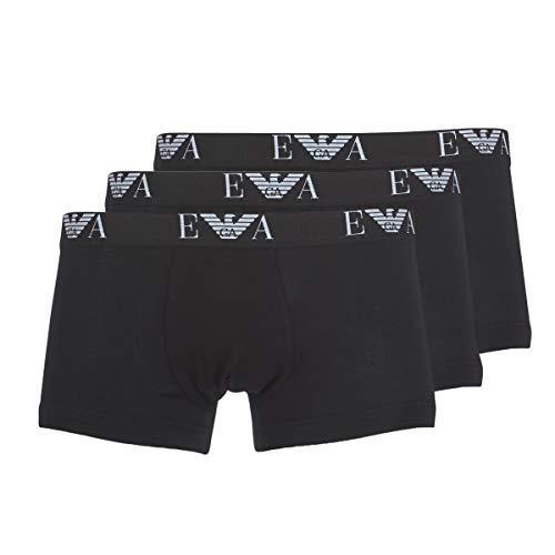 Emporio Armani Underwear Herren CC715111357 Boxershorts, Schwarz (Nero/Nero/Nero - Black/Black/Black 21320), X-Large (Herstellergröße: XL)