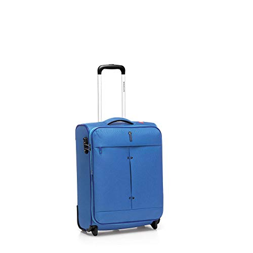 Roncato Ironik Maleta Cabina avión Expansible Azul, Medida: 55 x 40 x 20/23 cm, Capacidad: 40-46 l, Pesas: 1.90 kg, Maleta Cabina avión ryanair