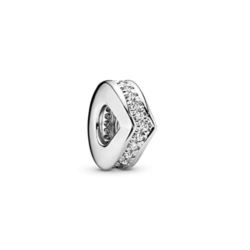 Pandora Jewelry Sparkling Wishbone Spacer Cubic Zirconia Charm in Sterling Silver