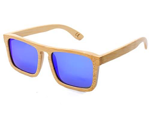 Mini Tree Gafas de sol de bambú clásicas polarizadas vintage para hombres/mujeres de montaje completo UV408