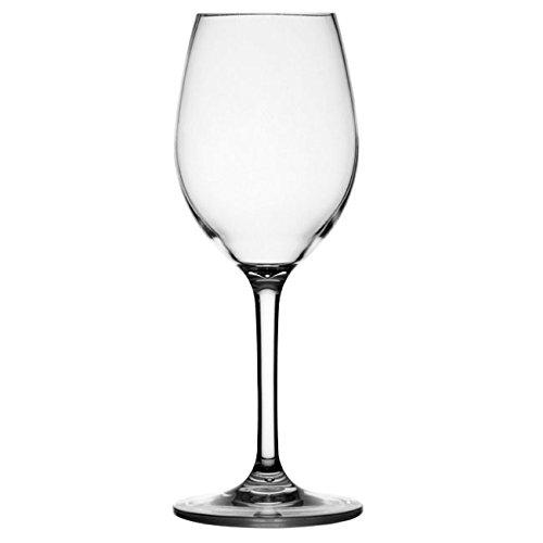 Marine Business 28104 Clear Lot de 6 Verres à vin 100% Transparents, en Tritan incassable, avec Pied antidérapant