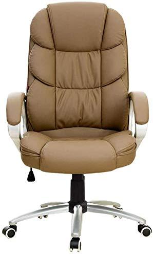 YONGYONGCHONG Sillón de oficina giratorio, respaldo alto, ejecutivo de escritorio de computadora silla de escritorio de altura ajustable, reposabrazos con función de inclinación