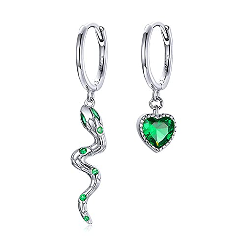 Ztowoto Orecchini in argento 925 con serpente d'amore con squisito zircone brillante per regali per ragazze e donne (Serpente Amore)