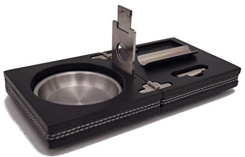 GERMANUS - Die Box - Set aus Zigarren Aschenbecher Cutter Bohrer Ablage