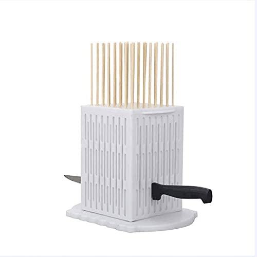 Dos brochetas a través de artefactos de Carne, plástico ABS de Grado alimenticio, Todo es extraíble y Lavable, 64 brochetas se Pueden ensartar a la Vez(Color:白色)