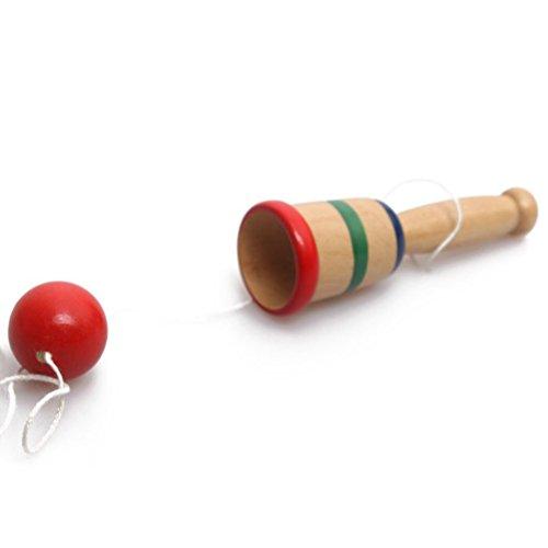 TOYMYTOY Bola de madera y juego de pelota novedad Catch Skill Toy Handcrafted regalos para niños