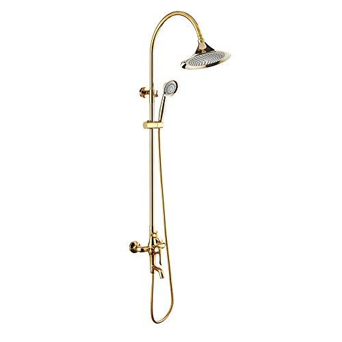 De enige goede kwaliteit Multifunctionele Badpak dikke messing muur gemonteerd drie-functie waterdouche gouden douche