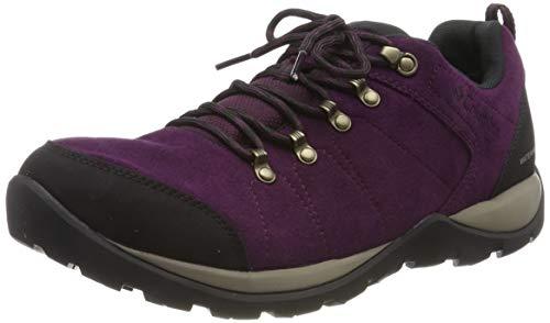Columbia FIRE VENTURE S II Zapatos de senderismo impermeables para mujer, Negro(Black Cherry, Wet Sand), 38 EU