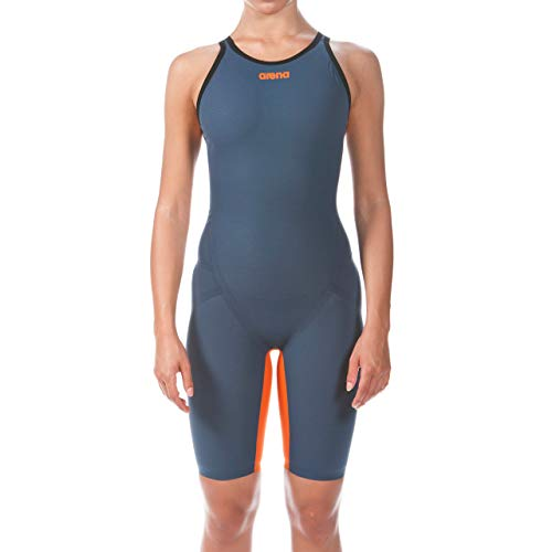 ARENA Damen Powerskin Carbon Flex Vx Swim Suit - Open Back Badeanzug, Marineblau/Orange, 30