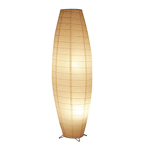 Yuemingsong Lighting Lámpara de Pie de Papel con Personalidad Creativa de Estilo Japonés, Lámpara de Pie de Sala de Estar y Dormitorio de Iluminación de Estudio Moderno Simple Plegable
