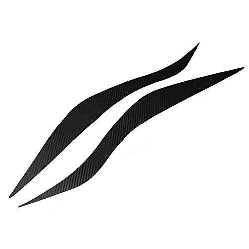 sikmoi Fibra de Carbono para Coche,Faros Delanteros, Pegatina para Cejas, Accesorios Exteriores, Productos de decoración, para Ford Focus 3 2012 2013 2014