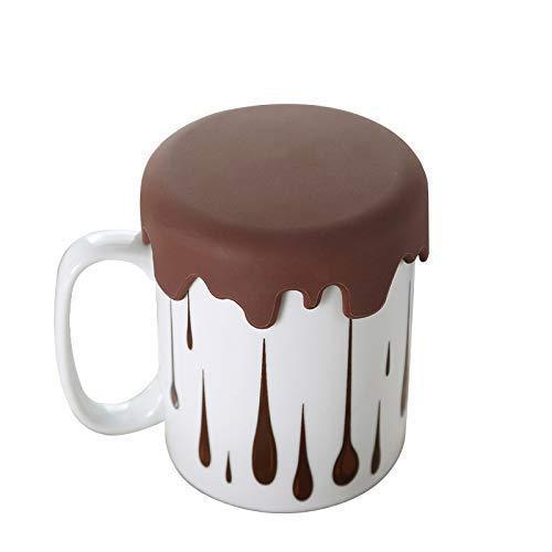 Toki - Taza Original con Tapa para café y té, Taza Chocolate Regalo Divertido