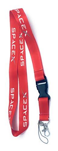 Space X Schlüsselband für Ausweishalter rot